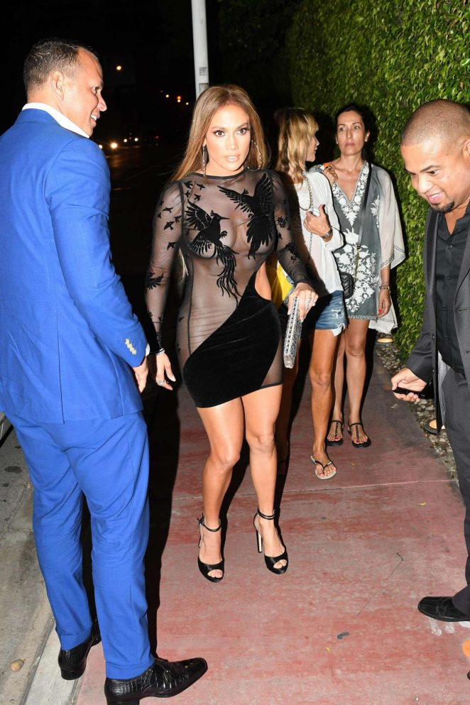 Jennifer Lopez in Black Mini Dress -13