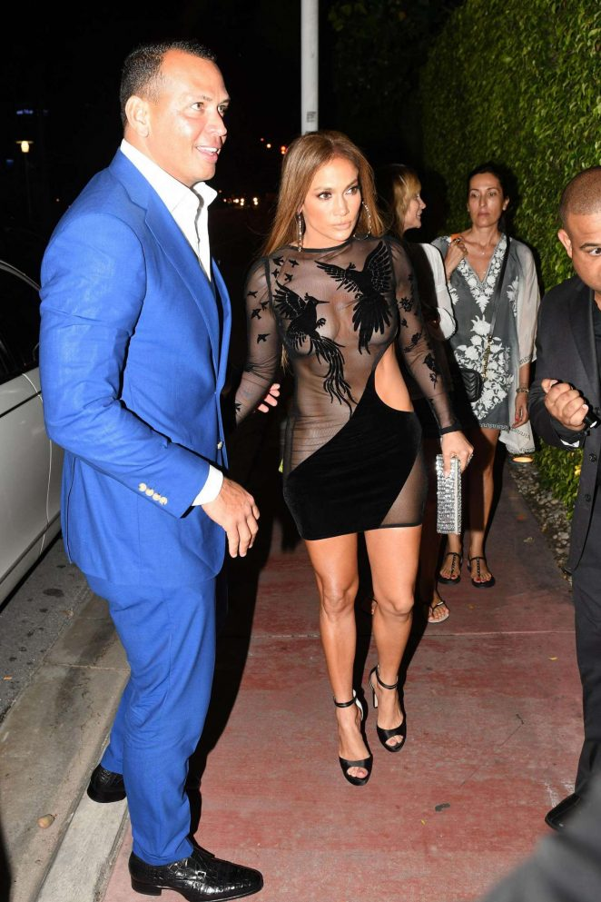 Jennifer Lopez in Black Mini Dress -15