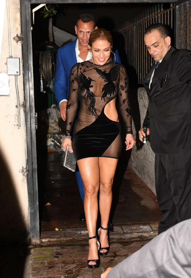 Jennifer Lopez in Black Mini Dress -16