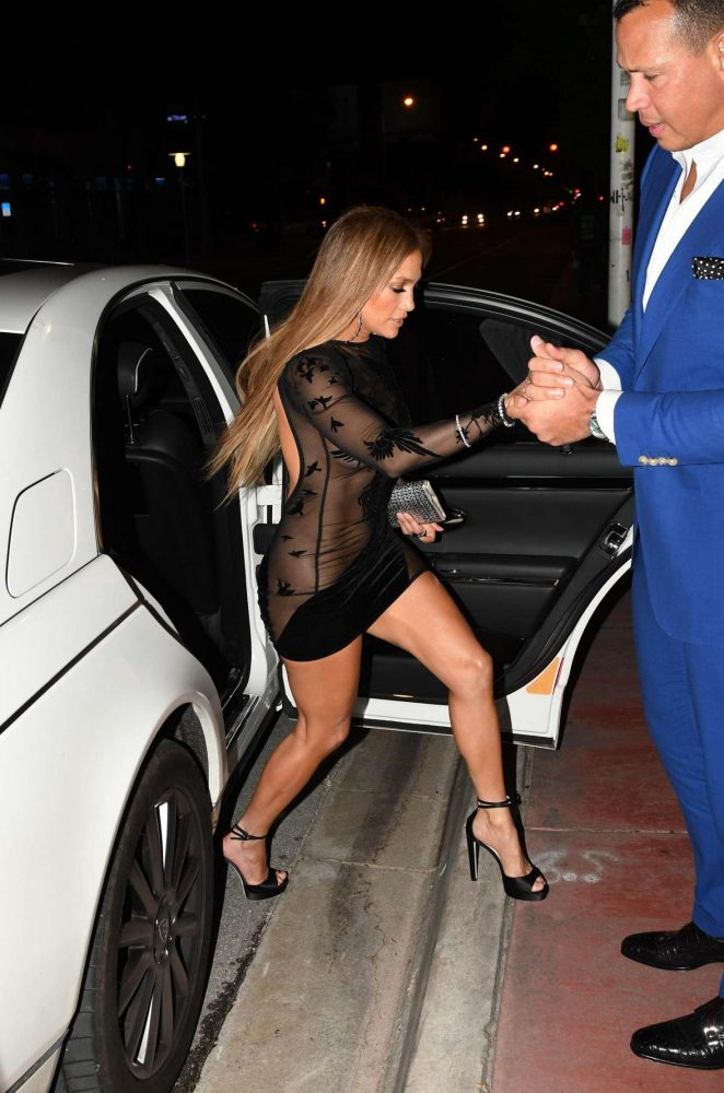 Jennifer Lopez in Black Mini Dress -19
