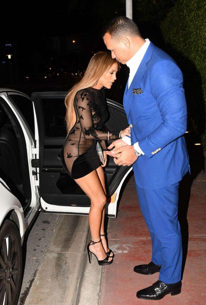 Jennifer Lopez in Black Mini Dress -20