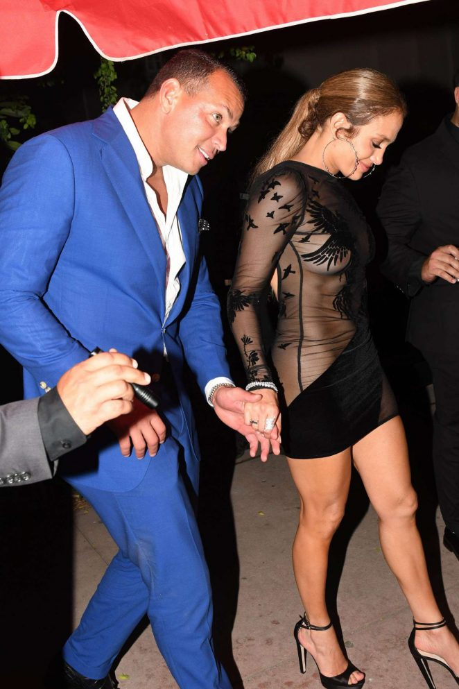 Jennifer Lopez in Black Mini Dress -22