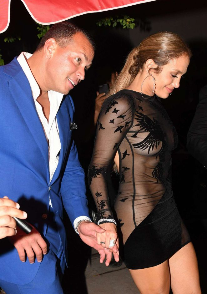 Jennifer Lopez in Black Mini Dress -23