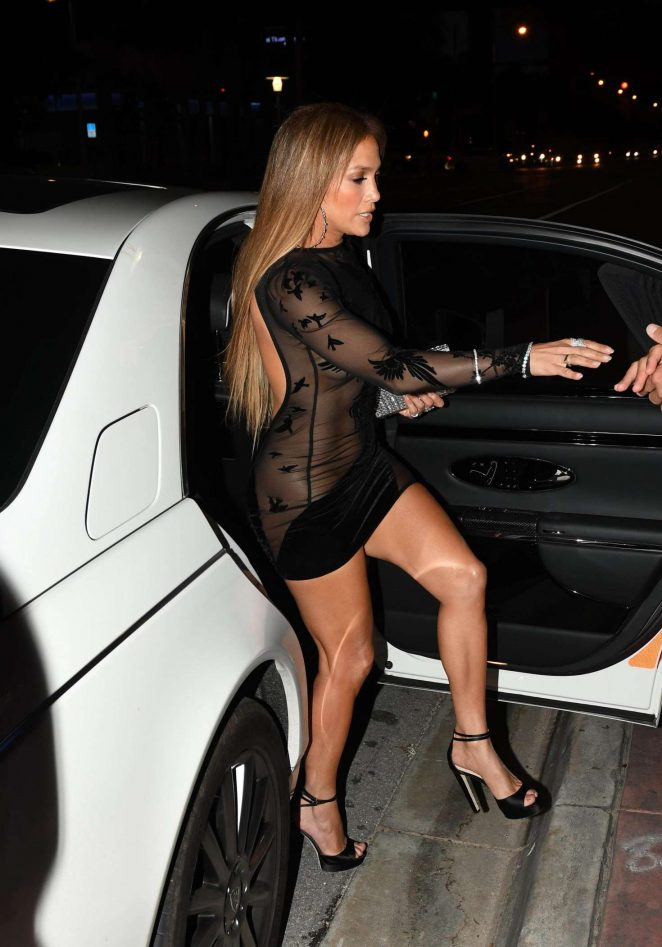 Jennifer Lopez in Black Mini Dress -25