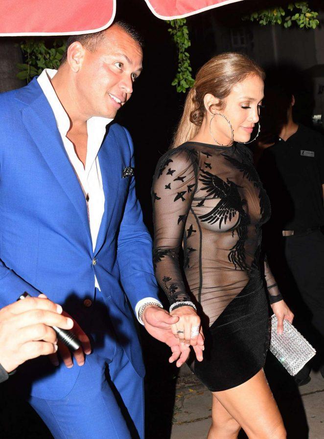 Jennifer Lopez in Black Mini Dress -35