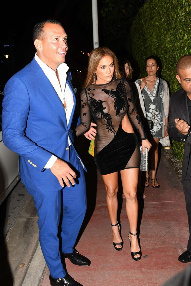 Jennifer Lopez in Black Mini Dress -37