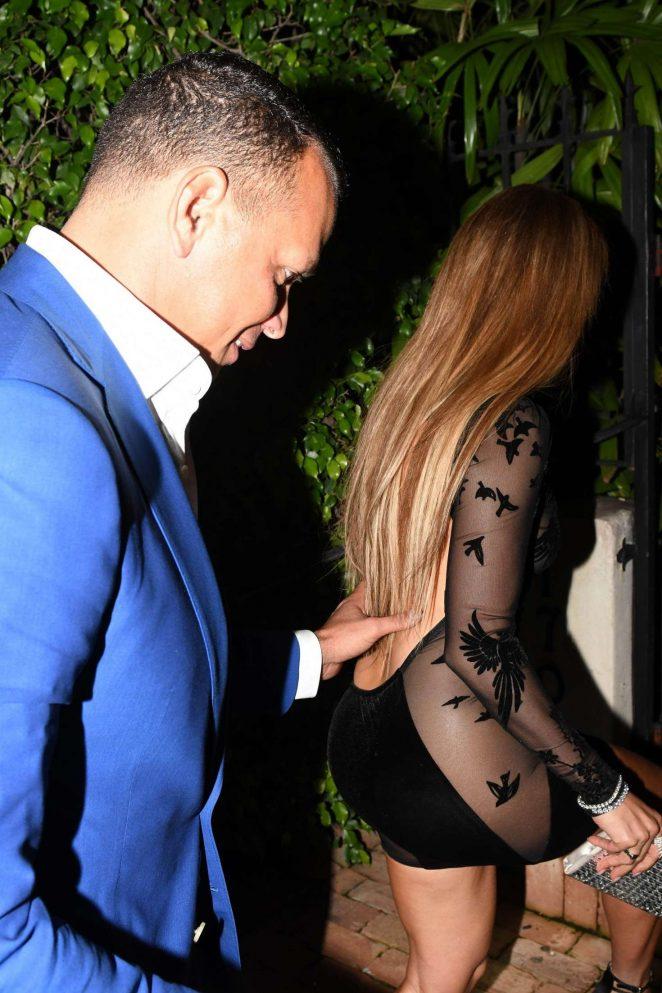 Jennifer Lopez in Black Mini Dress -38