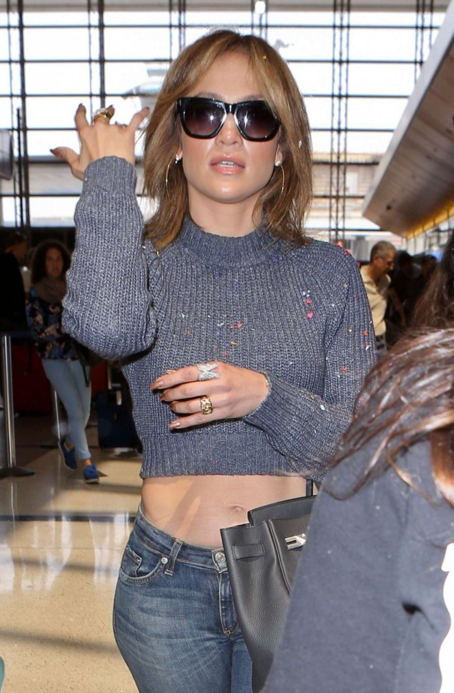 Jennifer Lopez in Jeans at LAX AIrport in LA