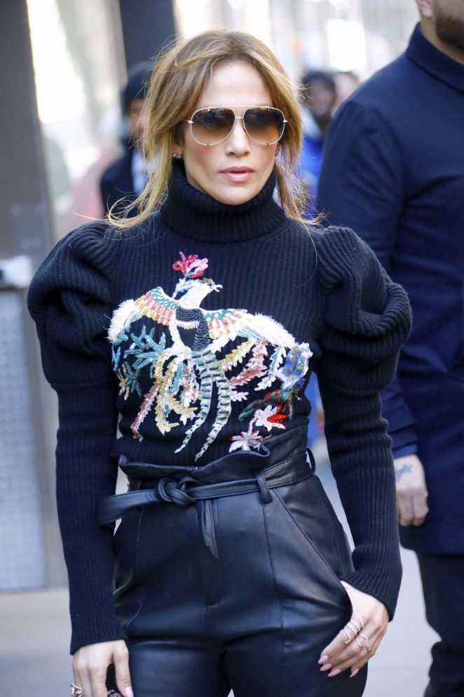 Jennifer Lopez in Leather at Today Show in New York City