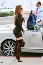 Jennifer Lopez - In over-the-knee high-heeled boots in Beverly Hills