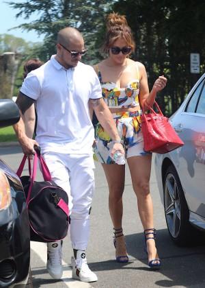 Jennifer Lopez in Shorts with Casper Smart -01