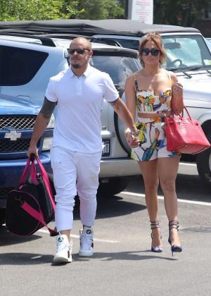 Jennifer Lopez in Shorts with Casper Smart -05
