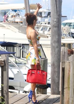 Jennifer Lopez in Shorts with Casper Smart -06