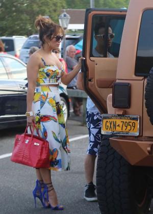 Jennifer Lopez in Shorts with Casper Smart -08