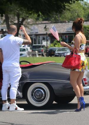 Jennifer Lopez in Shorts with Casper Smart -13