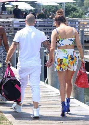 Jennifer Lopez in Shorts with Casper Smart -16