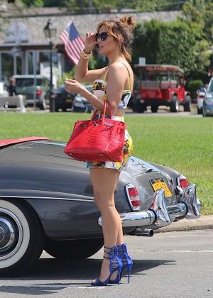 Jennifer Lopez in Shorts with Casper Smart -19