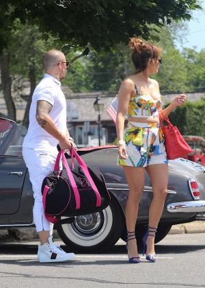 Jennifer Lopez in Shorts with Casper Smart -20