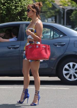 Jennifer Lopez in Shorts with Casper Smart -23