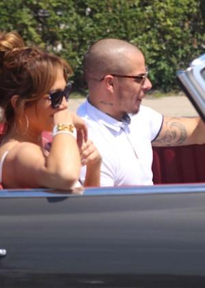 Jennifer Lopez in Shorts with Casper Smart -26