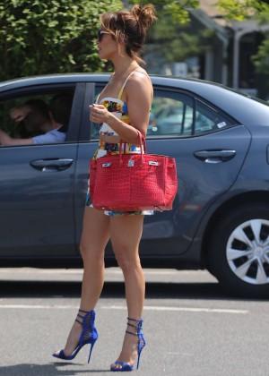 Jennifer Lopez in Shorts with Casper Smart -28