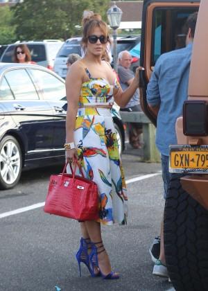 Jennifer Lopez in Shorts with Casper Smart -31