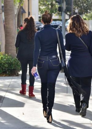 Jennifer Lopez in Skinny Jeans out in Los Angeles