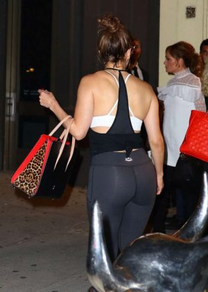 Jennifer Lopez in Spandex Leaves a Gym in New York