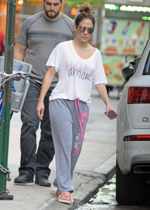 Jennifer Lopez in Sweats out in New York