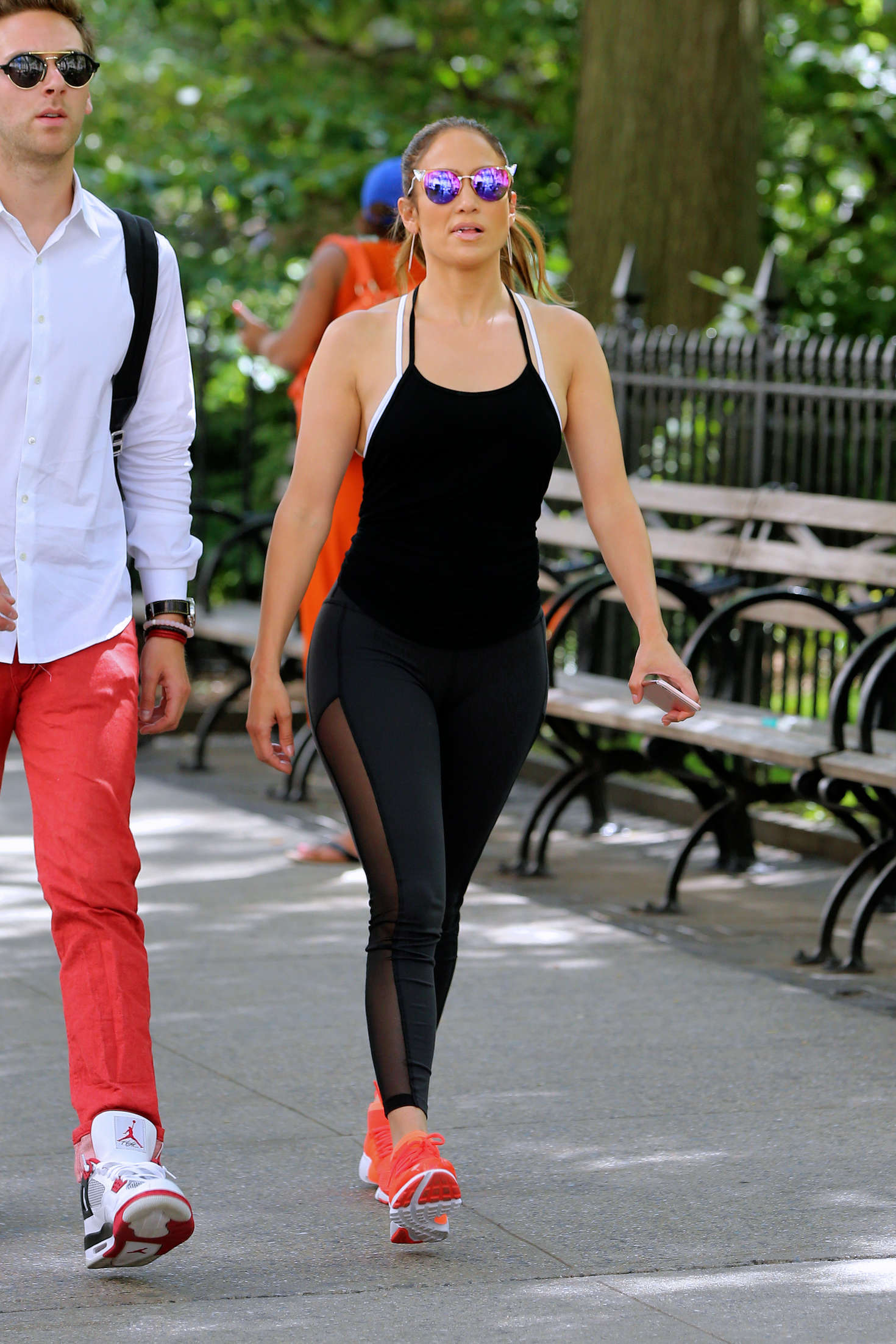 Jennifer Lopez In Tights Heading To A Gym In Ny Gotceleb