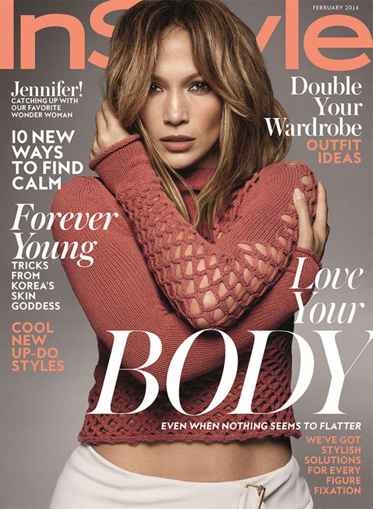 Jennifer Lopez Instyle Magazine Cover February 2016