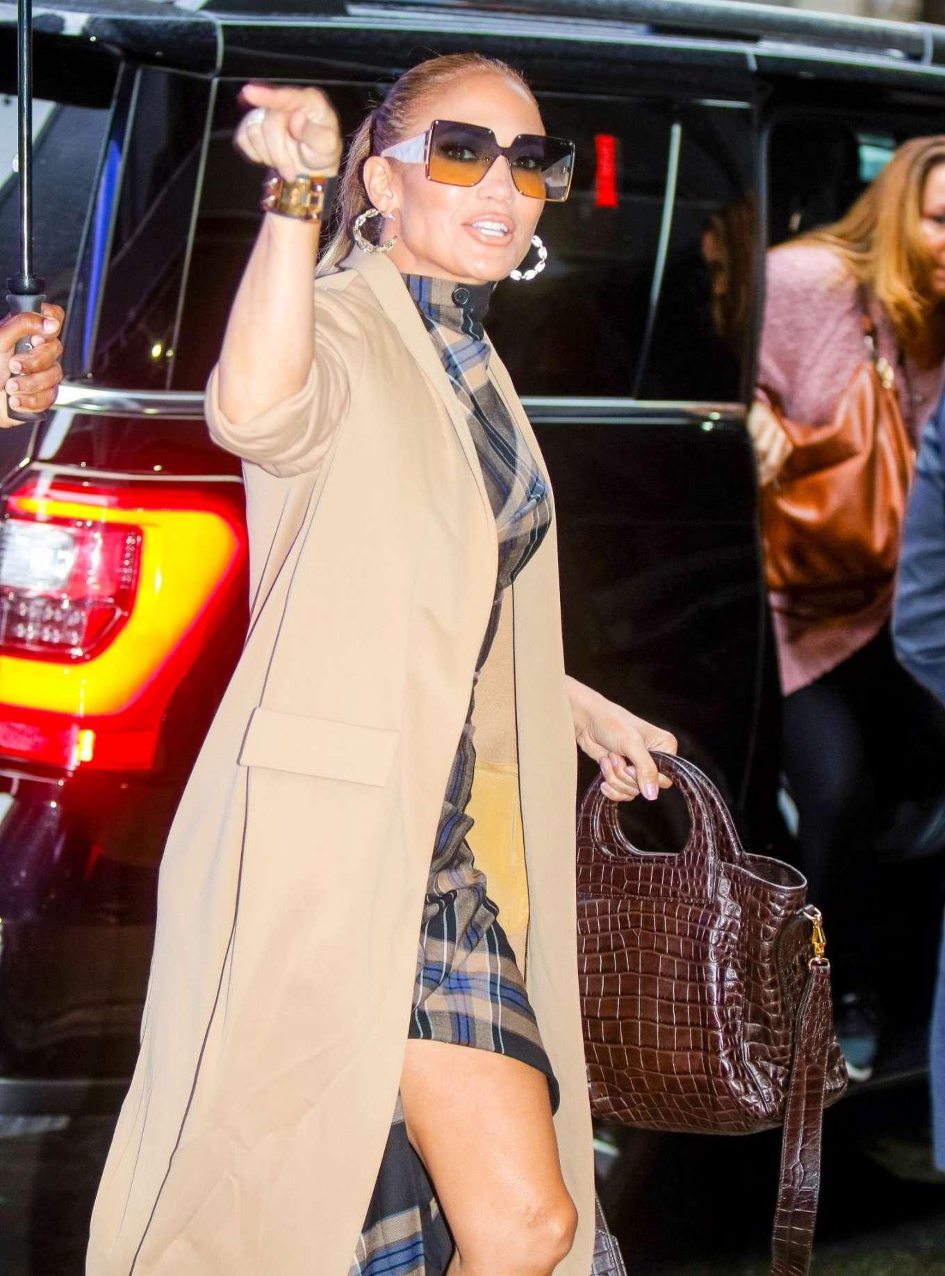 Jennifer Lopez is seen arriving at Good Morning America