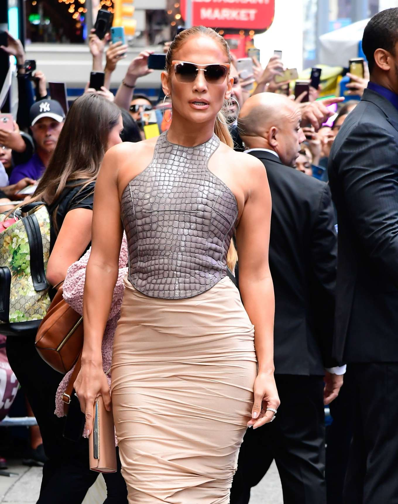 Jennifer Lopez is seen leaving Good Morning America-03