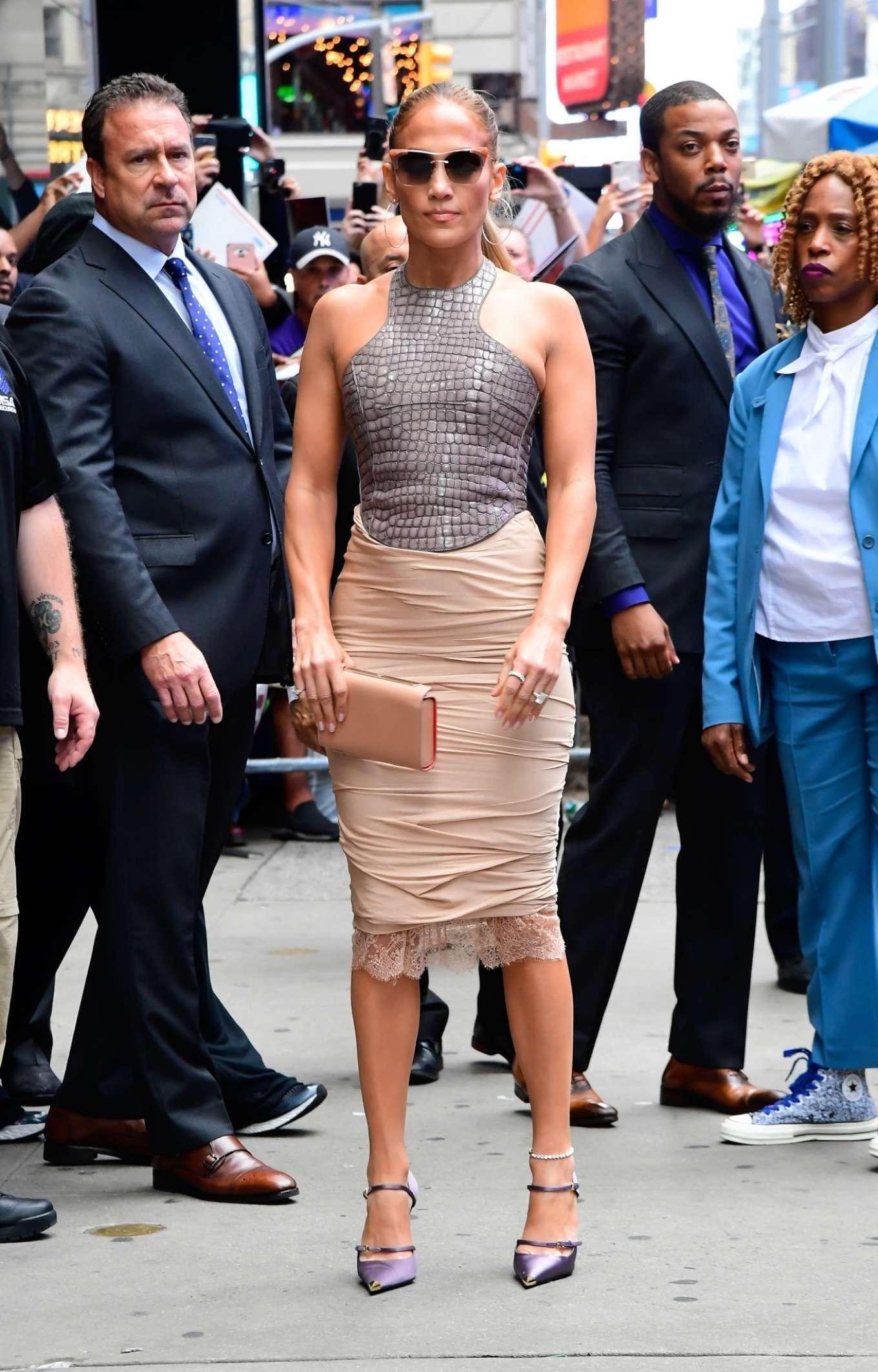 Jennifer Lopez is seen leaving Good Morning America-19