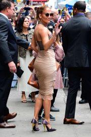 Jennifer Lopez is seen leaving Good Morning America