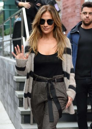 Jennifer Lopez - Leaves a shoot in New York City