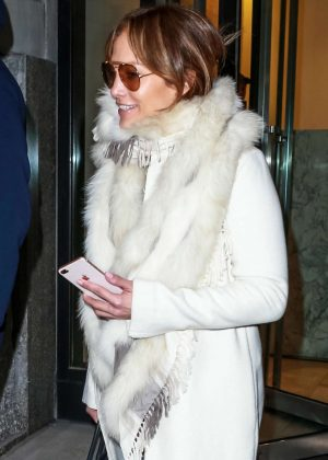 Jennifer Lopez - Leaves the gym in New York City