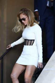 Jennifer Lopez - leaves the press conference for her new 'Hustlers' movie in Beverly Hills