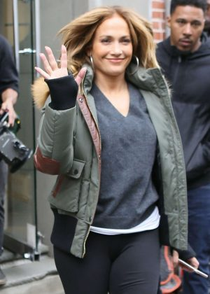 Jennifer Lopez - Leaves the 'Second Act' set in New York