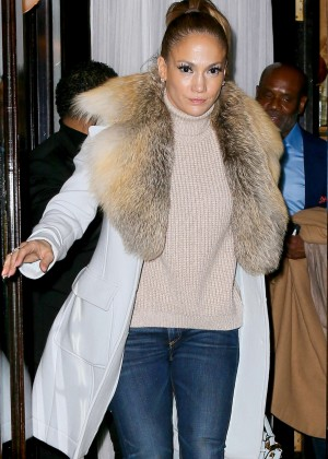 Jennifer Lopez leaving a dinner in LA
