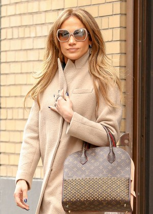 Jennifer Lopez - Leaving an office building in New York City