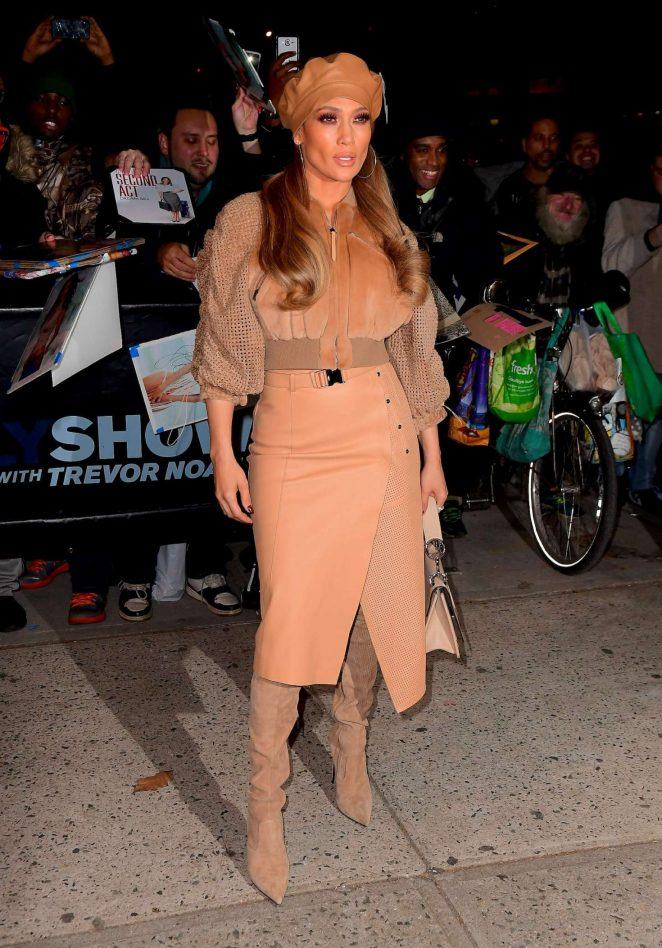 Jennifer Lopez - Leaving Daily Show with Trevor Noah in NYC