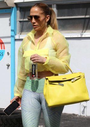 Jennifer Lopez - Leaving her gym in Miami
