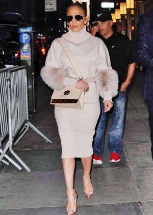 Jennifer Lopez - Leaving the NBC studios in New York
