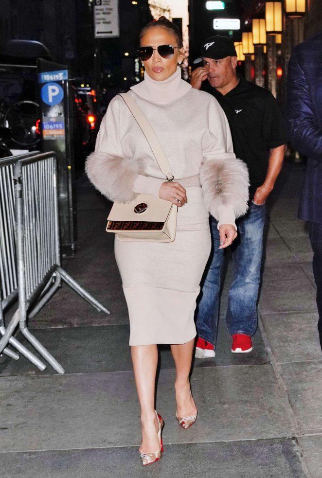 Jennifer Lopez – Leaving the NBC studios in New York