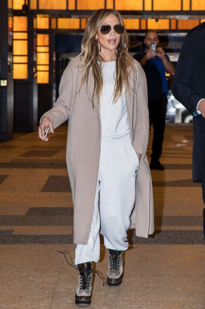 Jennifer Lopez - Leaving the NBCUniversal Upfront Presentation in NYC