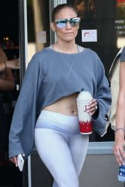 Jennifer Lopez - Leaving UFC Gym in Miami