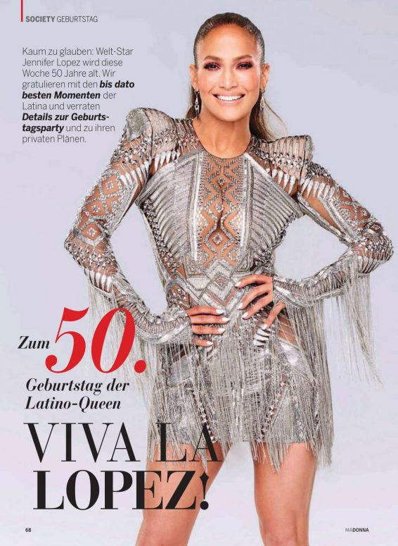 Jennifer Lopez - Madonna Magazine (July 2019)