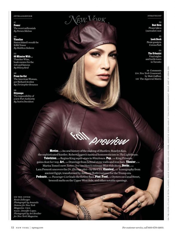 Jennifer Lopez - New York Magazine (September 2019)