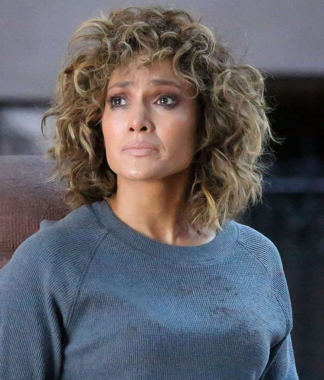 Jennifer Lopez on set of 'Shades of Blue' in New York City